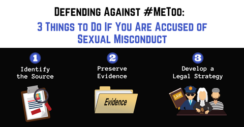 Defending Against #MeToo:  3 Things to Do If You Are Accused of Sexual Misconduct